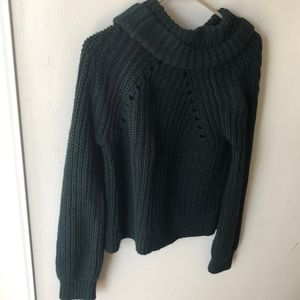 Green,turtleneck sweater- Kendall and Kylie
